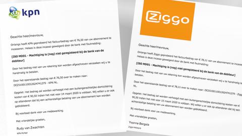 Spookfacturen namens Ziggo, KPN en de Belastingdienst leiden naar hetzelfde rekeningnummer