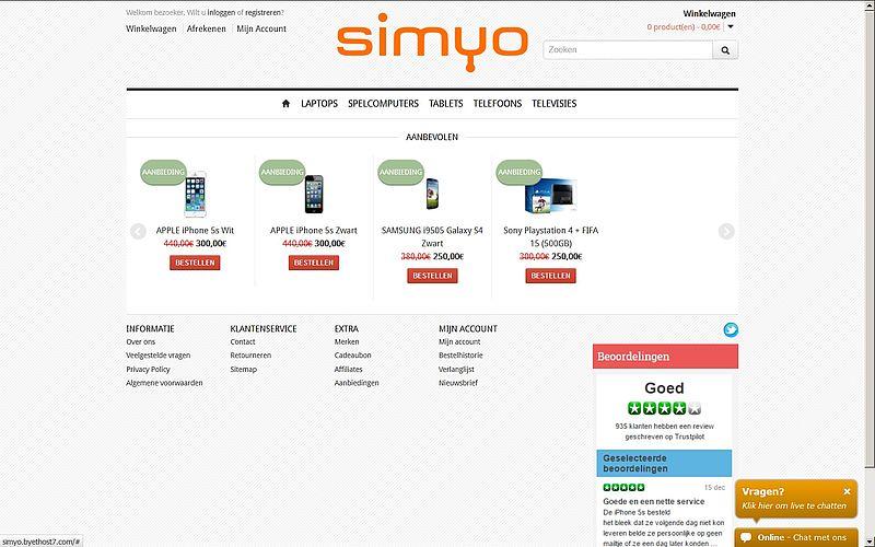 'Doe geen aankopen bij simyo-aanbieding.ml'