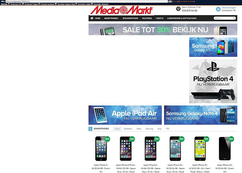 Pas op voor malafide 'webshop' www.mediamarkt-2015.com