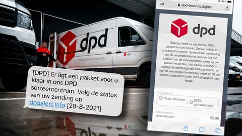 Oplichters sturen sms'jes namens koeriersdienst DPD: 'Er ligt een pakket in ons sorteercentrum'