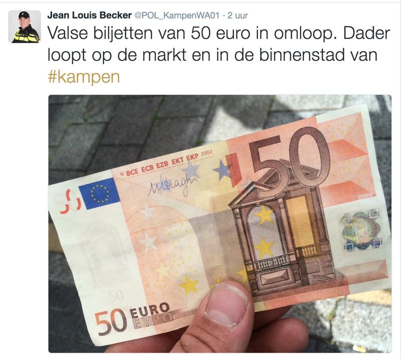 Valse biljetten van 50 in omloop in Kampen