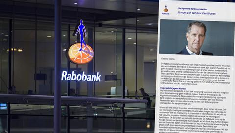 Valse mail van 'Rabobank' met in de onderwerp 'Lopende zaken'