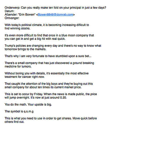 Zakelijke voorstellen per e-mail vaak scams