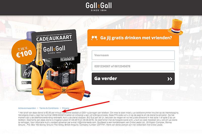Pas op voor valse Koningsdag-winactie 'Gall & Gall'