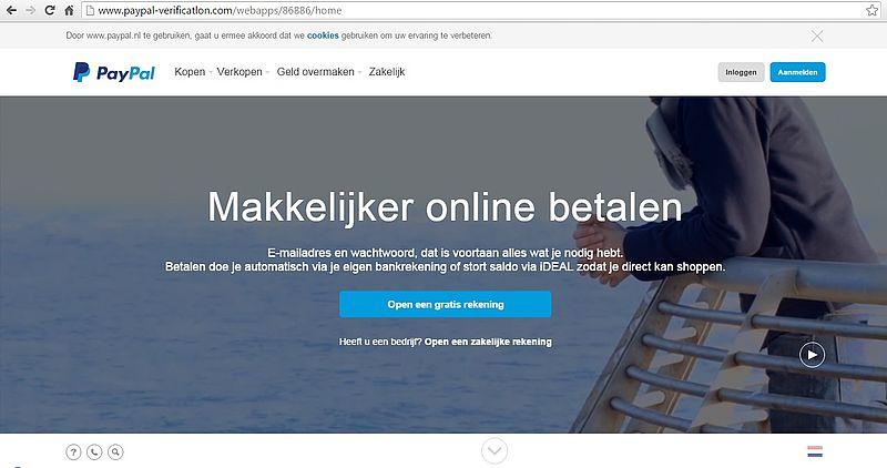 Valse website PayPal