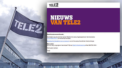 E-mail 'Tele2' over verlopen account is phishing