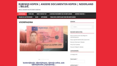 Website biedt rijbewijzen en identiteitskaarten te koop aan