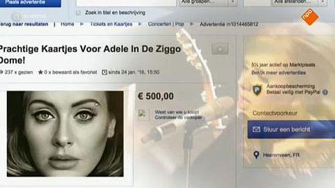 Valse concertkaarten Adele