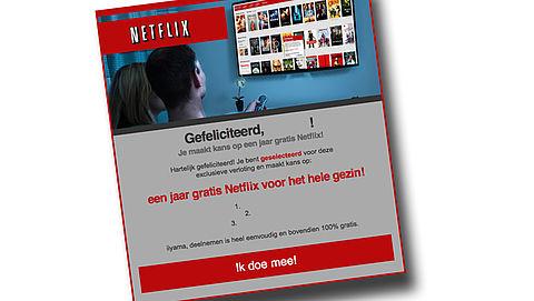 Winactie 'Netflix' is nep!