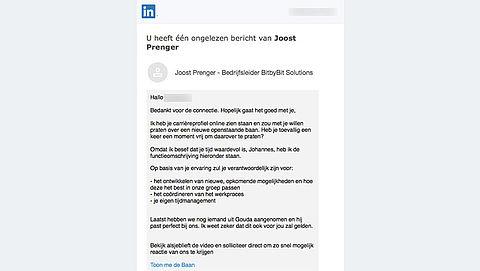Pas op! 'LinkedIn' phishingmail leidt naar 'Bitcoin' nepsite