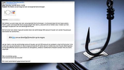 E-mail 'ICS' over vervangende kaart is vals