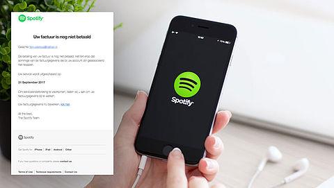 Valse e-mail Spotify: 'Uw factuur is nog niet betaald'