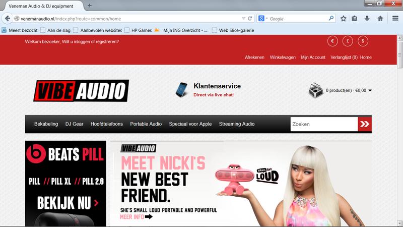 'Venemanaudio.nl is een malafide webshop'