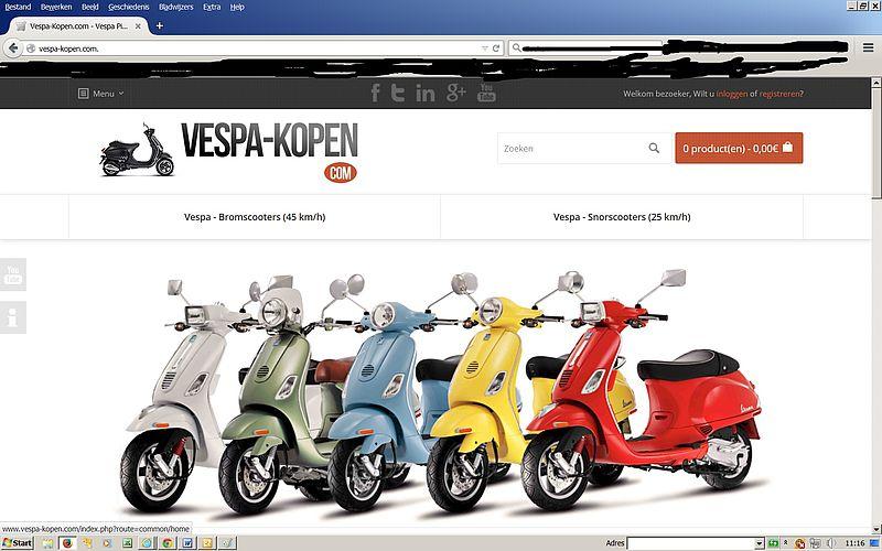 'Pas op voor VESPA-KOPEN.com!'