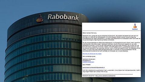 Afzender phishingmail 'Rabobank' uit op je pinpas