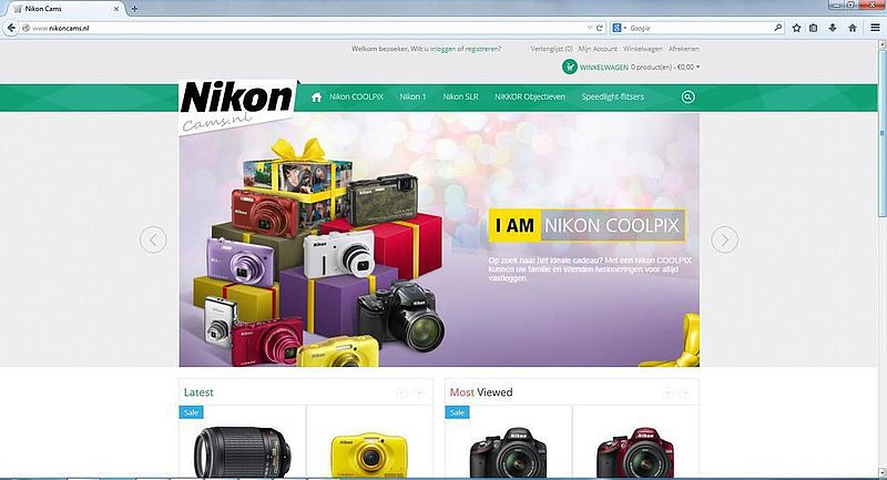 'Nikoncams.nl maakt misbruik van KvK-gegevens Nikon'