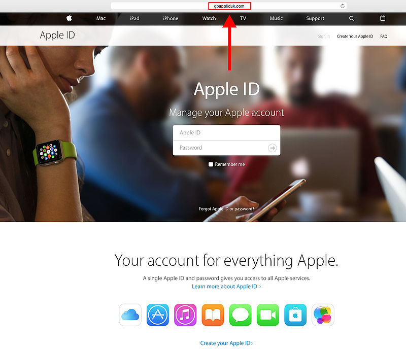 'There is a problem with your Apple ID'