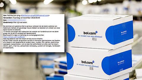 Pas op voor valse winactie 'Bol.com' over cadeaubon