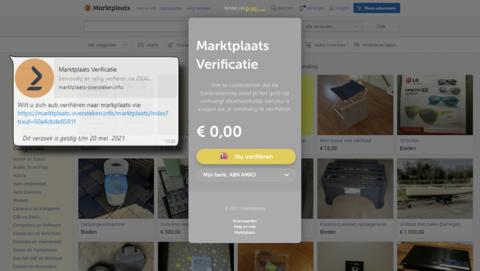 Oplichters zetten levensechte Marktplaats-nepsite online: 'Verifieer je Marktplaats-account'