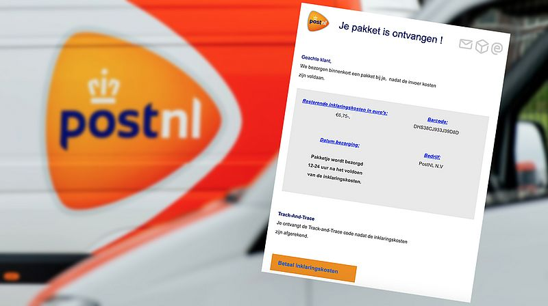 Weer fraude uit naam van PostNL: oplichters springen in op actualiteit met betaalverzoek voor inklaringskosten