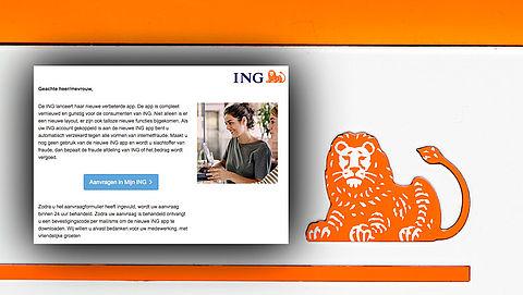 Afzender e-mail 'ING' wil jouw rekening plunderen