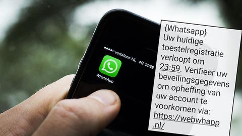 Zo hacken oplichters jouw WhatsApp-account: 'Uw toestelregistratie verloopt, verifieer uw beveiligingsgegevens'