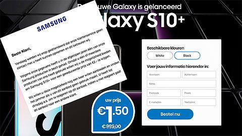 Winactie 'Samsung' betreft creditcardfraude