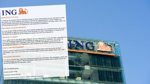 Valse mail van 'ING' waarschuwt voor verdachte koppeling nieuw toestel