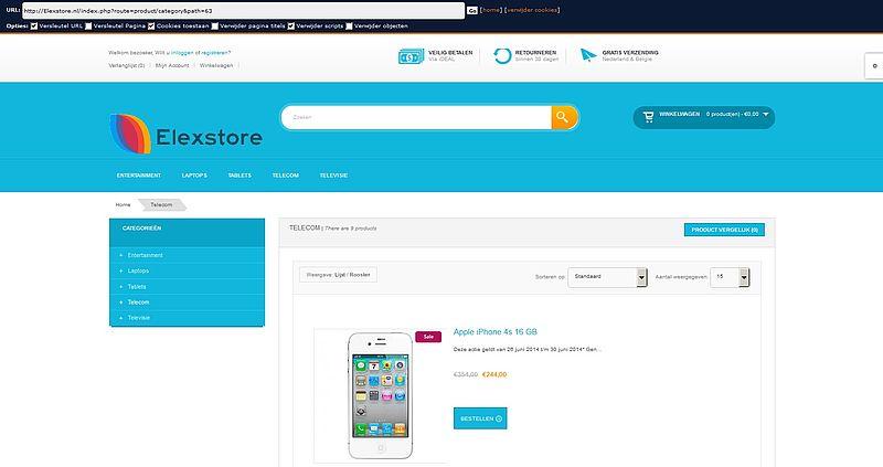 'www.elexstore.nl misbruikt gegevens'