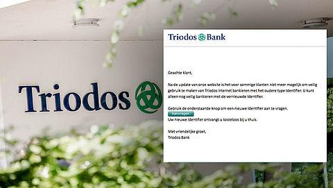 Let op! Phishingmail uit naam Triodos Bank