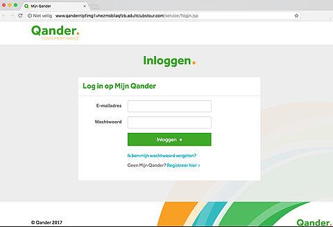 Valse e-mails creditcardmaatschappij Qander in omloop