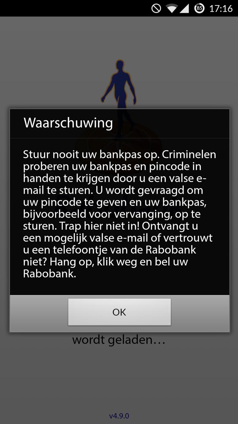 Rabobank: stuur nooit bankpas op!