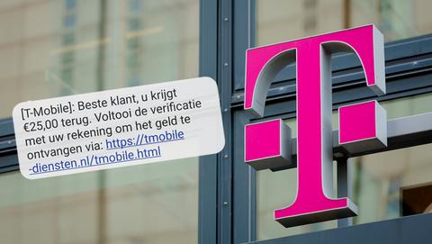 Valse sms namens 'T-Mobile' is phishing: 'Voltooi de verificatie om uw geld terug te ontvangen'