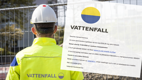 Kijk uit voor deze spookfactuur namens Vattenfall