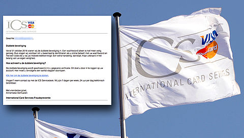 Afzenders valse mail 'ICS' uit op jouw accountgegevens