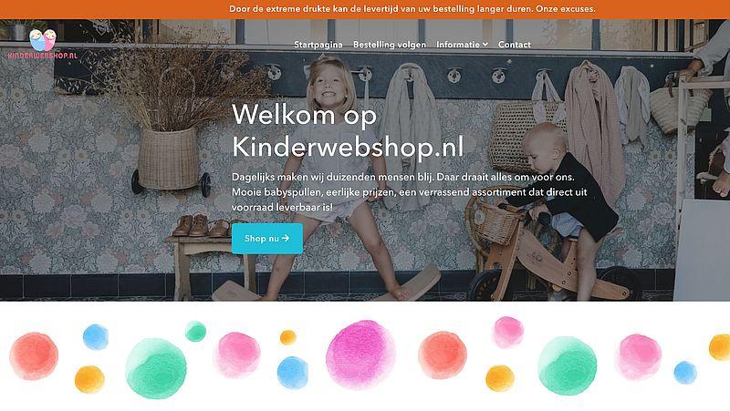Koop geen babyspullen bij Kinderwebshop.nl