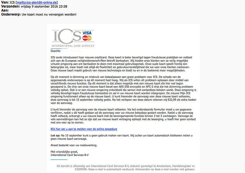 Nepmail 'ICS' met volledige persoonsnaam