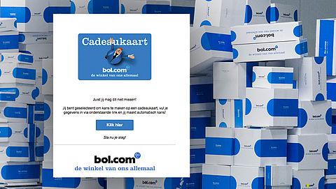 Opnieuw valse winactie 'Bol.com' in omloop