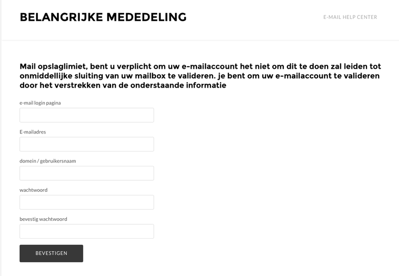 Nepmail: 'Uw wachtwoord verloopt vandaag'