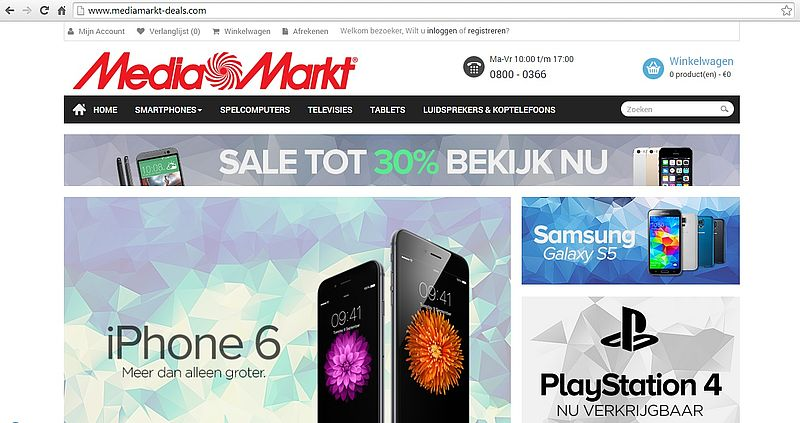 'Mediamarkt-deals.com misbruikt KVK-gegevens echte Media Markt'