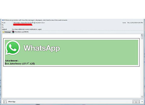 Valse mail 'WhatsApp' over voicemail