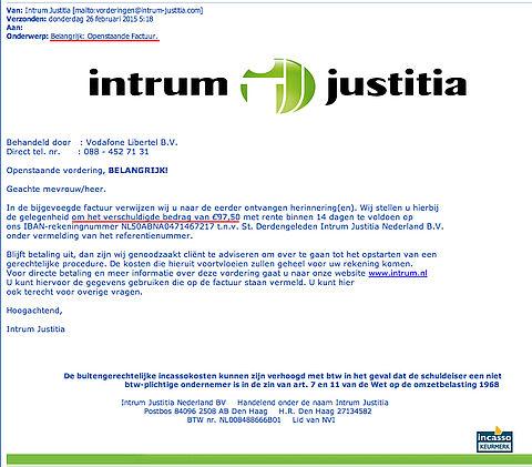 'Factuur Intrum Justitia' bevat malware!