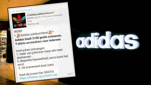 WhatsApp-kettingbericht over winactie van Adidas, is dat betrouwbaar?