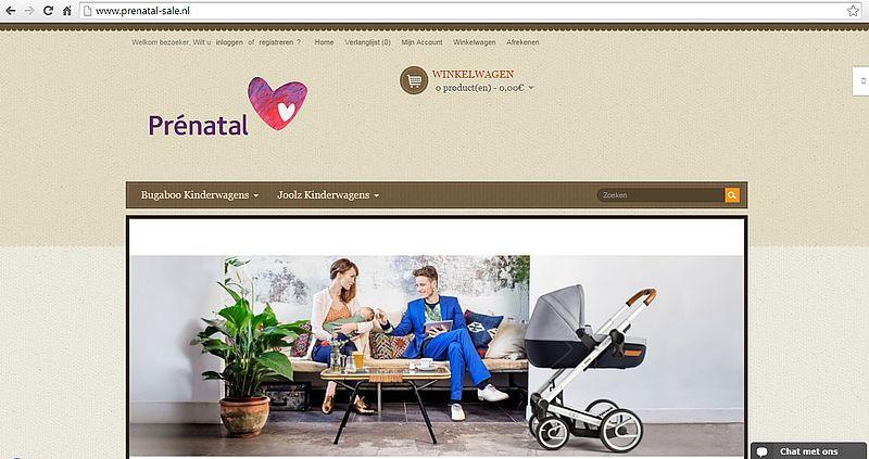 'Prenatal-sale.nl maakt misbruik KvK-gegevens van Prental'