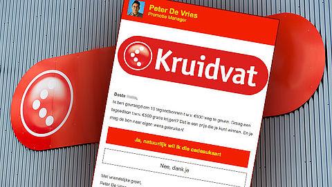 Misleidende winactie 'Kruidvat' leidt tot spam