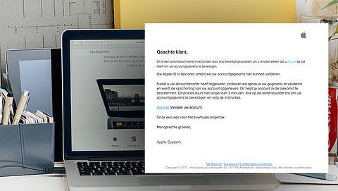 Opnieuw valse e-mail 'Apple' over bevroren account