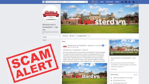 Facebookpagina 'Woning huren in Amsterdam? Like ons' biedt niet-bestaande woningen aan