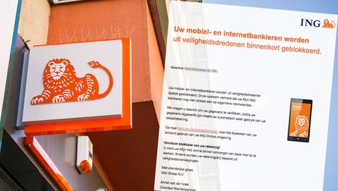 Mail van 'ING' over blokkade rekening is vals