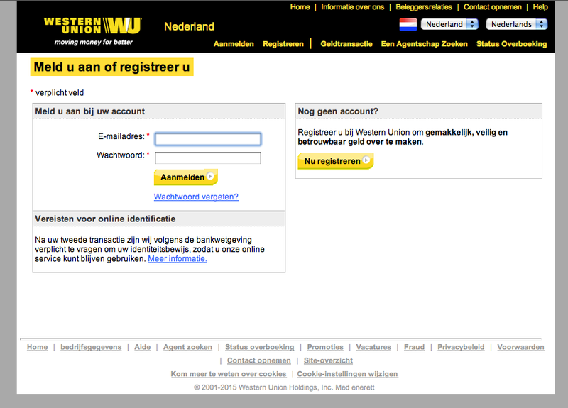 Phishing-mails rond van 'Western Union'