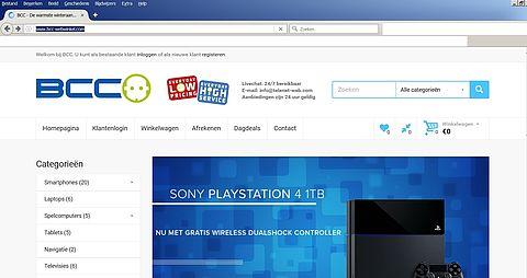 Koop niks bij nepshop www.bcc-webwinkel.com